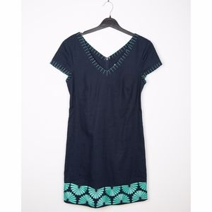 Vineyard Vines Navy Embroidered Shift Dress